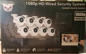Night Owl 8-Channel/8 Cameras 1TB Wired Security Camera, Model X31P-88, New