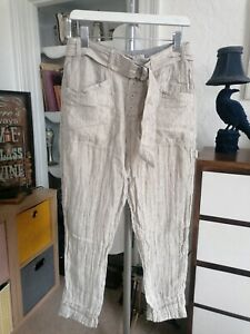 Free People Emerson Utility  Pants Cream Combo Beige Size 6/ 8 new