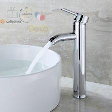Robinet Lavabo Mitigeur Salle de Bain Cuisine Laiton Chrome(Haut) & Flexibles