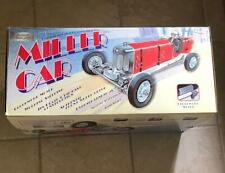 TETHER CAR CLASSIC TINPLATE MILLER RACER CAR LARGE WIND UP TOY