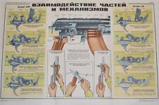 Lehrtafel Poster AK-AKM Kalaschnikow Sowjetarmee UdSSR 1980