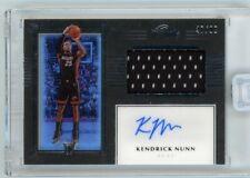 2019-20 Panini One and One Basketball Kendrick Nunn Rc Rookie Jersey Auto 47/99