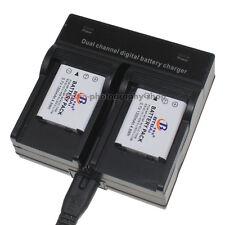 Dual Charger +2x Battery for Fuji NP-45 45A J150W JX400 JX405 J12 J120 J15fd J20