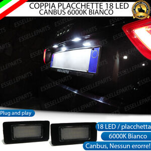 COPPIA PLACCHETTE LED LUCI TARGA 18 LED AUDI A3 8V 6000K PER LED DI SERIE