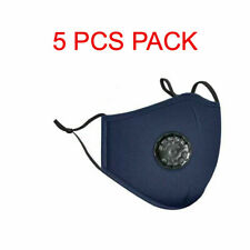 Reusable Face Mask Air Purifying Cotton Mouth Cover PM2.5 filter face mask 5 Pcs
