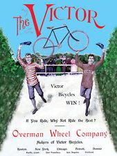 Victor Bicycle Cycle Bike Vintage Advertisement Metal Sign