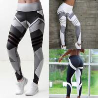 Womens Sport Compression Fitness Leggings Running Yoga Gym Pants Workout Wear US