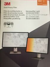 """3M GF220W1B Frameless Gold Lcd Privacy Filter for 22"""" Widescreen Monitor, 16:10"""