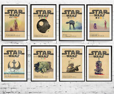 A3 or A4 Size * STAR WARS Alternative Movie Posters * Minimal Vintage Wall Art