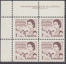 Canada - #454 QE II Centennial Plate Block #3 - MNH