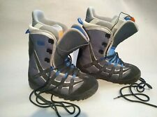 Burton Moto Snowboard Boots Men's Size Us13 Uk11.5 Eu Gray & Black w/ Blue Trim