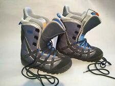 Burton MOTO Snowboard Boots Men's Size US13 UK11.5 EU Gray & Black w/ Blue Trim