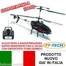 ELICOTTERO RADIOCOMANDATO 3.5 CANALI DRONE SUPER RESISTENTE CON GIROSCOPIO E LED