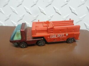 Original Hot Wheels Redline Spectraflame Red Heavyweights Fire Truck