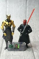 Star Wars Darth Maul Action Figure Bundle With Chip Collection Yellow job lot