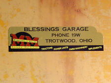 1954 Minneapolis Moline Decal - Blessings Garage Dealer Decal