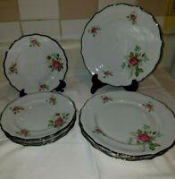 9 Chalfonte CpC Fine Porcelain Bavaria Germany Rose B & B Plates/Salad Plates