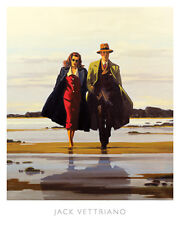 The Road to Nowhere by Jack Vettriano Art Print Sand Beach Seascape Poster 16x20