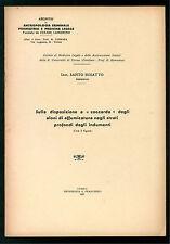 BUSATTO SANTO DISPOSIZIONE A COCCARDA ALONI AFFUMICATURA INDUMENTI 1935 MEDICINA