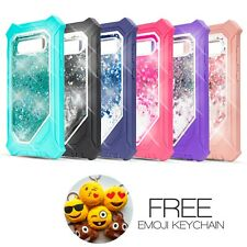 For Samsung S10 Plus Clear Phone Case Liquid Glitter Quicksand + HD Screen S10+