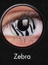 Crazy Contact Lenses Lentilles Kontaktlinsen Fun Halloween White Zebra Cosplay