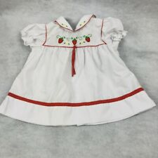 Baby Togs Girls Party Dress Embroidered Strawberry  6-9 Mos
