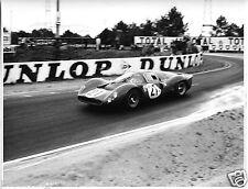 FERRARI 330 P4 LE MANS 24 HOURS 1967 LUDOVICO SCARFIOTTI MIKE PARKES PHOTOGRAPH