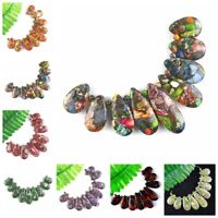 Wholesale 9pcs Mixed Gemstone Sea Sediment Jasper Pendant Bead Set F-Bead 29