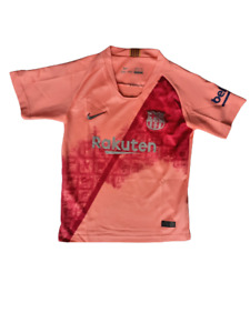 """Barcelona shirt short sleeved PLAYER 3 PIQUE, Pit to Pit 15.5"""", Length 21.5"""""""
