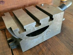 Tilting/Swiveling Geared Adjustable Angle Plate Cast Iron +/- 90 deg MADE IN USA