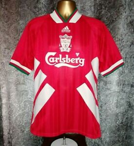 "Vintage Adidas Liverpool F.C 1993-95 Men's M 38-40"" Red LFC Home Shirt Jersey"