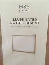 M&s Illuminated White Notice board wall light office home/Christmas/gift Free PP