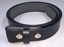 Ledergürtel schwarz 100 cm für Gürtelschliessen - Wechselgürtel für buckles