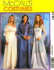 RARE LADIES MEDIEVAL RENAISSANCE GOWNS COSTUME SEWING PATTERN 14-20 McCalls 3797