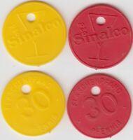 2x Sinalco Biermarke Pfandmarke 30 Pfennig Plastik Token Jeton Wertmarke