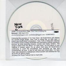 (EG150) Gil Scott-Heron, New York Is Killing Me - 2010 DJ CD