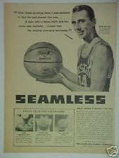 1958 Bob Cousy Boston Celetics Baketball Photo Print Ad