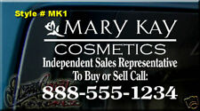 """18""""x11.5"""" MARY KAY COSMETICS DECAL STICKER CAR WINDOW SIGN INDEPENDENT SALES REP"""