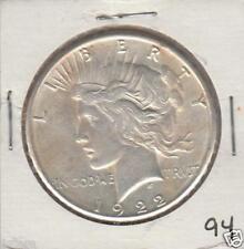 HIGH GRADE 1922-S $1 PEACE SILVER DOLLAR