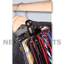 Rotating 24 Tie 8 Belt Closet Hanger Rack Organizer Ties Belts Holder Racks  WOOD