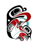 Northwest Coast Native Frogs Print Haida Style 1991 First Nations Ltd Edition