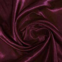 Stretch Silk Satin Charmeuse Fabric 16momme per Yard Dressmaking Wine