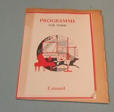 1952 Cunard Cruise Ship Line RMS Mauretania Program & Race Card Kingston Jamaica