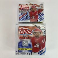 2 Topps 2021 MLB Baseball Series 1-355 Cards Factory Sealed Boxes