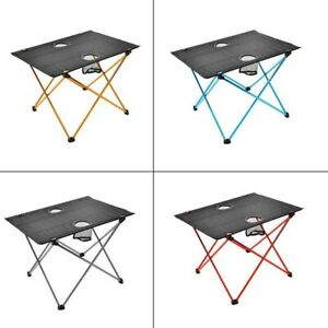 Camping Table with Cup Holders Portable Foldable Lightweight Outdoors Table SEL