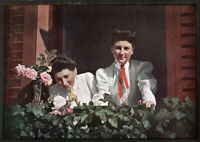 FRANK EUGENE, Sister's, 1908 from an Autochrome, Pictorialism, Demeyer