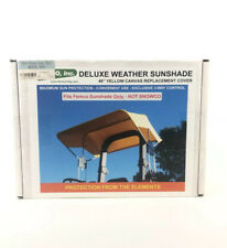 """Deluxe Weather Sunshade,48"""" Yellow Canvas Replacement Part 2083 Femco Sun Shade"""