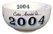 Bol année de naissance 2004 en grès - idée cadeau anniversaire neuf