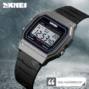 SKMEI Women Sport Watch Chrono LED Men Digital Wristwatch 50m Waterproof 1412 7