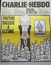 Charlie Hebdo No 394 Janvier 2000 Grieta Putin Succède de Eltsine